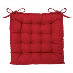 Galette de chaise rouge 38x38 cm