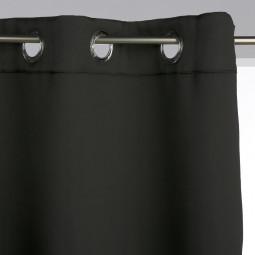 Lot de 2 rideaux occultants noirs 135X240