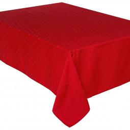 Nappe rouge jacquard à carrés 140x240 cm