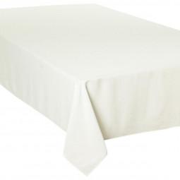 Nappe ivoire jacquard à carrés 150x300 cm