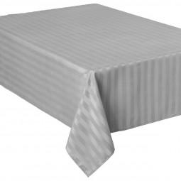 Nappe jacquard à rayures gris clair 140x240 cm