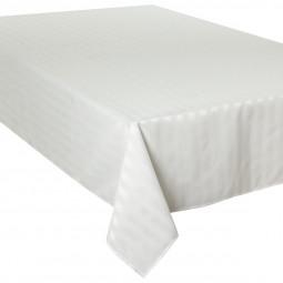 Nappe jacquard à rayures ivoire 150x300 cm