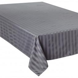 Nappe jacquard à rayures gris 150x300 cm