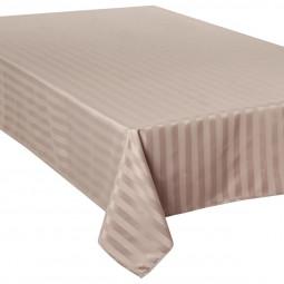 Nappe jacquard à rayures lin 150x300 cm