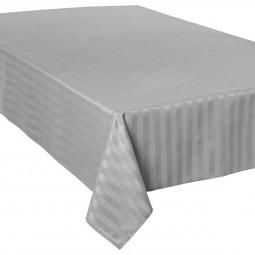 Nappe jacquard à rayures gris clair 150x300 cm