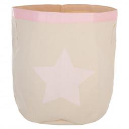Bac de rangement rose «Canvas»43x44,5