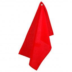 Lot de 2 torchons en coton rouge 45x70 cm