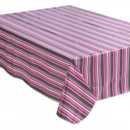 Nappe carreaux cirée rose 140X240