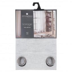 Voilage gris Craft vintage story 140 x 240 cm