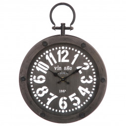 Pendule Gousset grise en métal D24