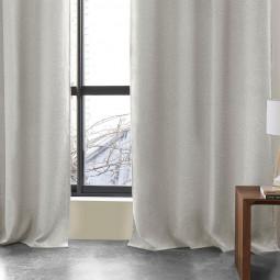 Rideau occultant gris clair Lino 140 x 260 cm
