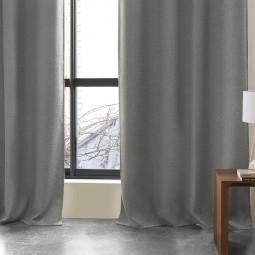 Rideau occultant gris foncé Lino 140X260