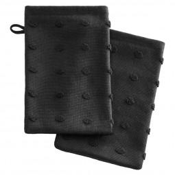 Lot de 2 gants noirs 15X21