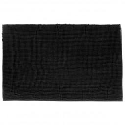Tapis de bain chenille courte noir 50 X80