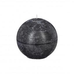 Bougie rustique boule noir D12