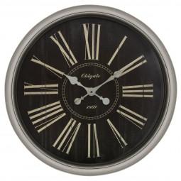 Pendule avec moulures vintage rétro D 76 cm