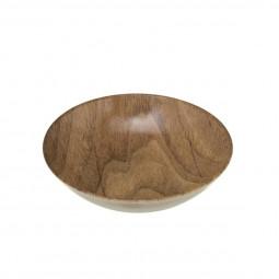 Assiette creuse aspect bois 22 cm natural mood
