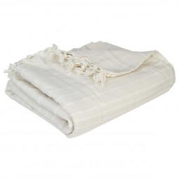 Jeté de lit ivoire 230x250 cm
