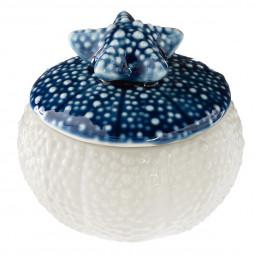 Bougie pot en céramique étoile collection Océan 58 G