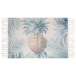 Tapis en coton imprimé Aloha 60x90cm
