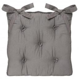 Galette de chaise gris 5 boutons 40x40 cm