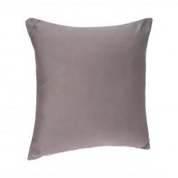 Coussin déhoussable gris 38 x 38 cm