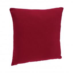 Coussin déhoussable rouge 38 x 38 cm