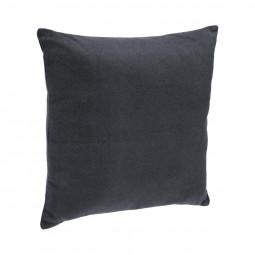 Coussin déhoussable gris foncé 38x38