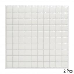 Set de 2 planches sticker déco petit carreaux blancs