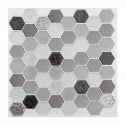 Set de 2 planches sticker déco hexagone noir