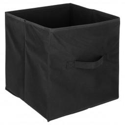 Boîte de rangement noir 31x31