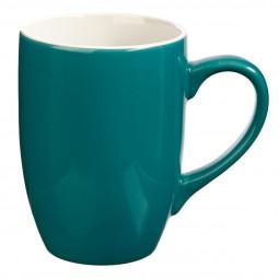 Mug Rond en Faïence coloris Bleu 31 cl Petit déj Uni