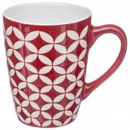Mug rond rouge 30cl colorfield