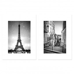 Lot de 2 affiches city 30X40 cm