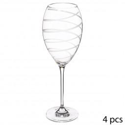 Coffret 4 verres à vin gravés nera 39 cl