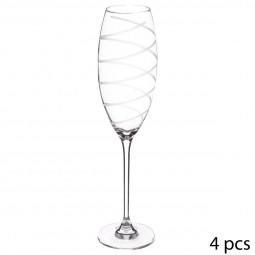 Coffret 4 flûtes à champagne gravées Nera 26 cl