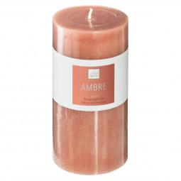 Bougie ronde parfumée AMBRE ELEA H 14 cm