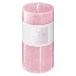 Bougie ronde parfumée FLEUR DE CERISIER ELEA H 14 cm