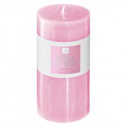 Bougie ronde parfumée ROSE ELEA H 14 cm