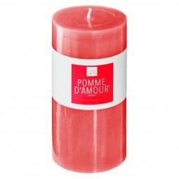 Bougie ronde parfumée POMME D AMOUR ELEA H 14 cm