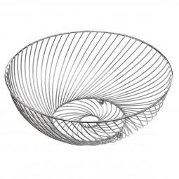 Corbeille torsadé argentée 30 cm
