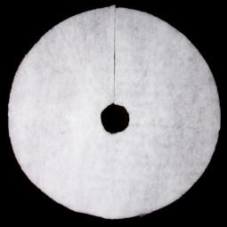 Décoration de Noël Tapis de Neige Pailleté Diamètre 100 cm Sous son blanc manteau