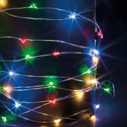 Guirlande lumineuse d'intérieur Copper 100 LED Multicolore sur 10 Mètres