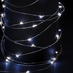 Guirlande lumineuse d'intérieur Copper 100 LED Blanc froid sur 10 Mètres