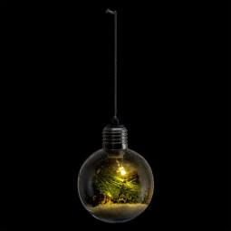 Décoration Boule de noël lumineuse à LED avec décor intérieur D 8 cm