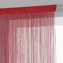 Rideau de fil rouge 90X200