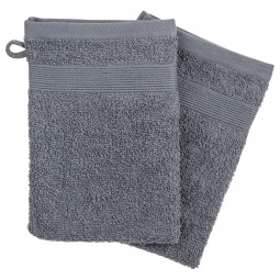 Lot de 2 gants gris foncés 15x21 cm