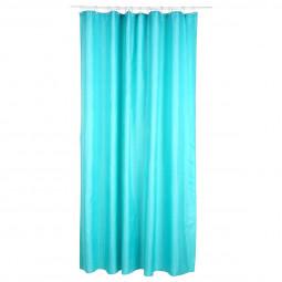 Rideau de douche polyester turquoise