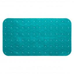 Fond de bain en pvc 69 x 39 cm turquoise