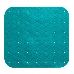 Fond de douche en pvc turquoise